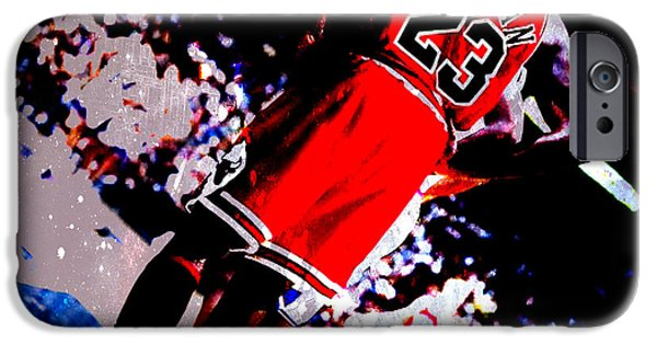 Michael Mixed Media iPhone Cases - Michael Jordan Standing Tall iPhone Case by Brian Reaves