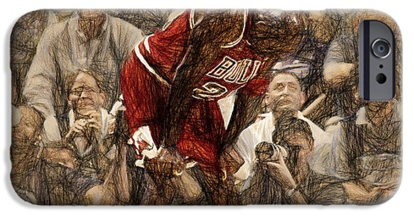 Michael iPhone Cases - Michael Jordan The Flu Game iPhone Case by John Farr