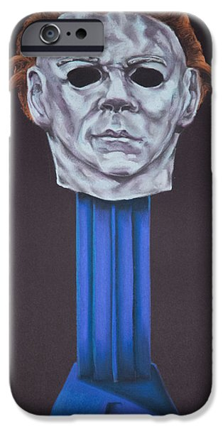 Michael Pastels iPhone Cases - Michael Myers  iPhone Case by Brent Andrew Doty