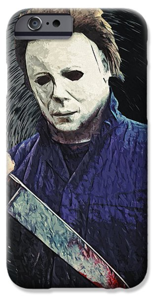 Recently Sold -  - Creepy iPhone Cases - Michael Myers  iPhone Case by Taylan Soyturk