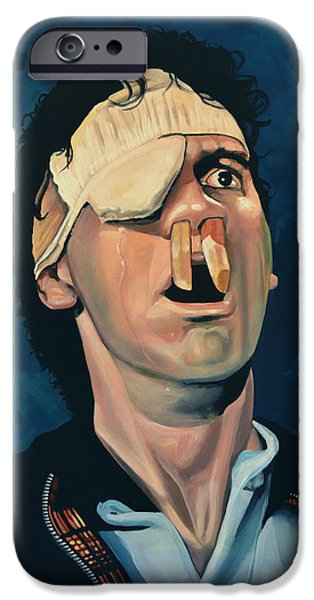 Michael Paintings iPhone Cases - Michael Palin iPhone Case by Paul  Meijering