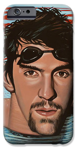 Michael Phelps iPhone Case by Paul  Meijering