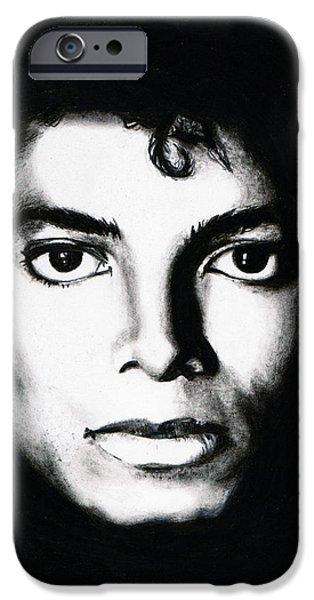 Michael Portrait iPhone Case by Elizabeth Moug