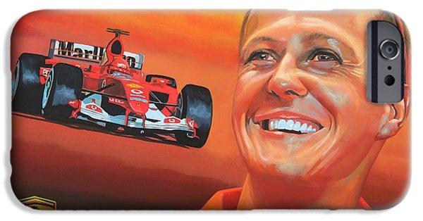 Jordan iPhone Cases - Michael Schumacher 2 iPhone Case by Paul Meijering