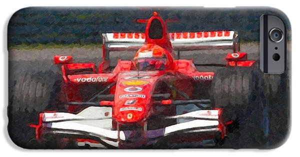 Circuit iPhone Cases - Michael Schumacher Canadian Grand Prix I iPhone Case by Clarence Holmes