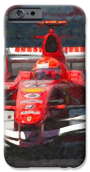 Michael Schumacher Canadian Grand Prix I iPhone Case by Clarence Holmes