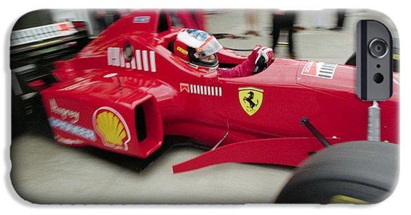 Michael Schumacher iPhone Cases - Michael Schumacher Ferrari F310 iPhone Case by Gary Doak