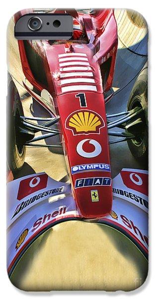 Michael Schumacher iPhone Cases - Michael Schumacher Fish Eye iPhone Case by Blake Richards