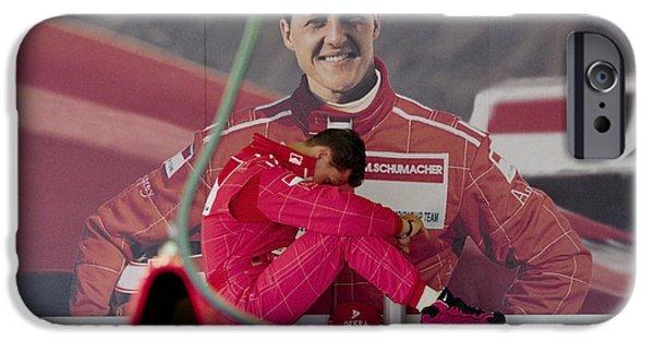 Michael Schumacher iPhone Cases - Michael Schumacher iPhone Case by Gary Doak