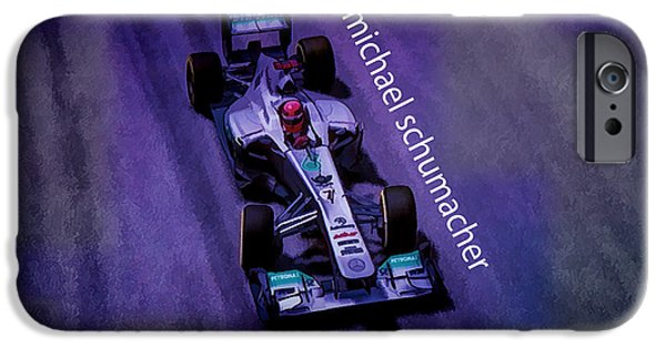 Racer iPhone Cases - Michael Schumacher iPhone Case by Marvin Spates