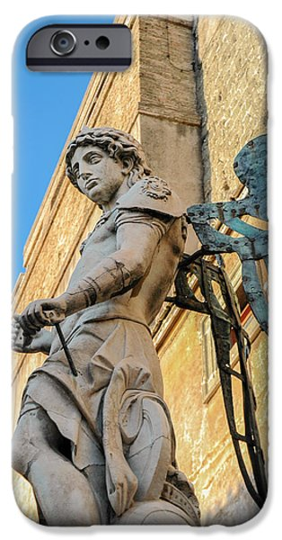 Michael Angelo iPhone Cases - Michael the Archangel  iPhone Case by Marianne Campolongo