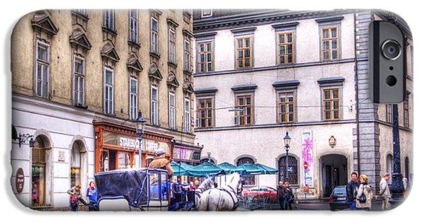 Inner World iPhone Cases - Michaelerplatz. Vienna iPhone Case by Juli Scalzi