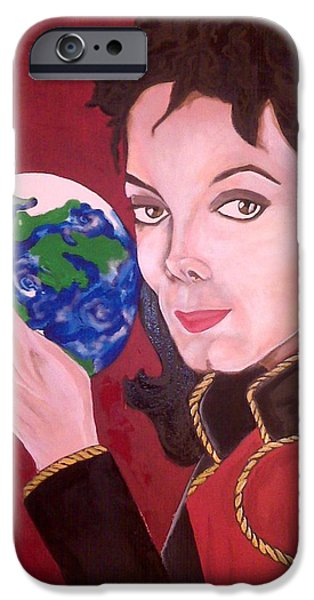 Michael's World iPhone Case by Lorinda Fore