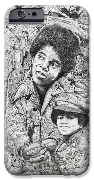 Art Of Soul Music iPhone Cases - Jackson iPhone Case by Lance Graves