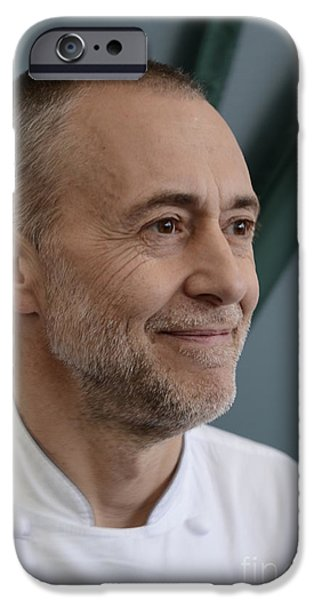 Michelin iPhone Cases - Michel Roux Jr. iPhone Case by CandyAppleRed Images