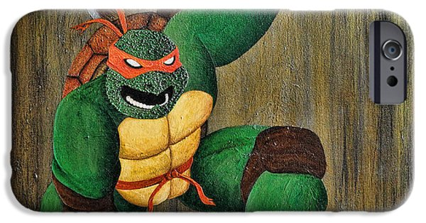 Michael Mixed Media iPhone Cases - Michelangelo iPhone Case by Mike Caron