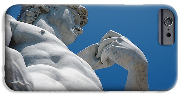 Big Blue Marble iPhone Cases - Michelangelos David 2 iPhone Case by Micah May