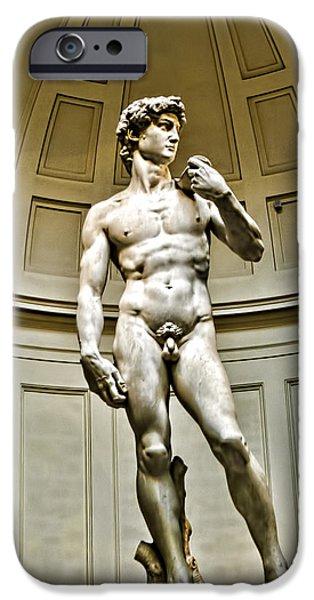 David iPhone Cases - Michelangelos DAVID  iPhone Case by Jon Berghoff