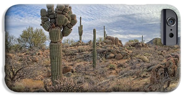Michelin iPhone Cases - Michelin Man Saguaro iPhone Case by Marianne Jensen