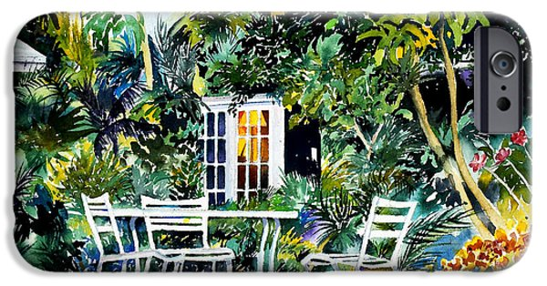 Recently Sold -  - Michelle iPhone Cases - Michelle and Scotts Key West Garden iPhone Case by Phyllis London