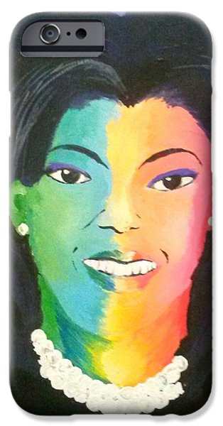 Michelle Obama iPhone Cases - Michelle Obama color effect iPhone Case by Kendya Battle