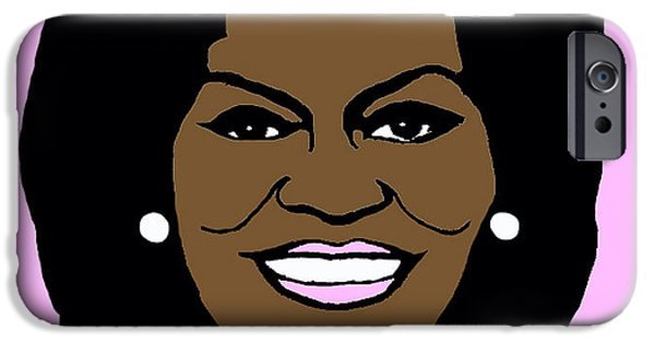 Michelle Obama Photographs iPhone Cases - Michelle Obama iPhone Case by Jost Houk