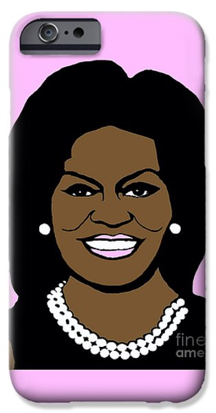 Michelle Obama iPhone Cases - Michelle Obama iPhone Case by Jost Houk