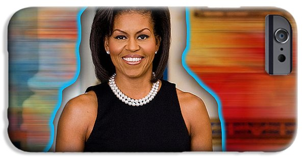 Obama iPhone Cases - Michelle Obama iPhone Case by Marvin Blaine