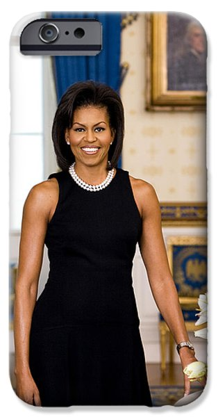 Oba Ma iPhone Cases - Michelle Obama iPhone Case by Official White House Photo