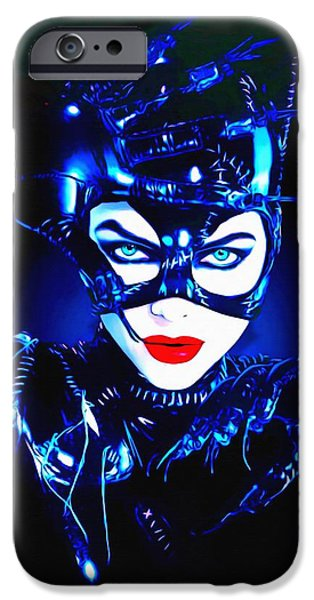 Michelle Pfeiffer iPhone Cases - Michelle Pfeiffer in Batman Returns iPhone Case by Art Cinema Gallery