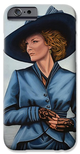People iPhone Cases - Michelle Pfeiffer iPhone Case by Paul  Meijering
