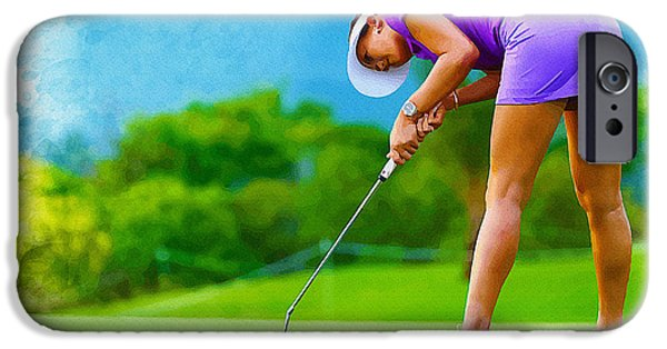 Recently Sold -  - Michelle iPhone Cases - Michelle Wie - the LPGA LOTTE Championship iPhone Case by Don Kuing