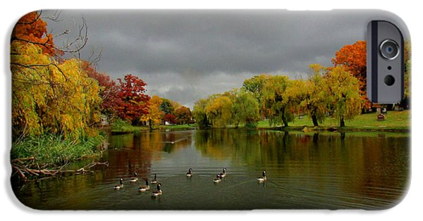 Rucker iPhone Cases - Michigan Autumn iPhone Case by Michael Rucker