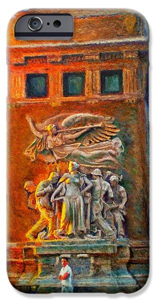 Chicago Paintings iPhone Cases - Michigan Avenue Bridge iPhone Case by Michael Durst