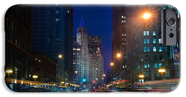 Wrigley iPhone Cases - Michigan Avenue Chicago iPhone Case by Steve Gadomski