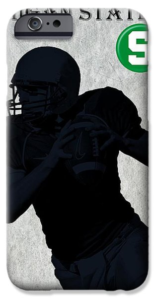 Nebraska iPhone Cases - Michigan State Football iPhone Case by David Dehner