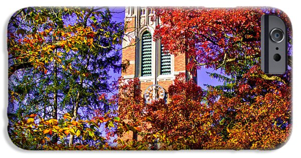 Leaf Change iPhone Cases - Michigan State University Beaumont Tower iPhone Case by John McGraw