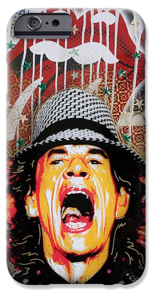 Lips iPhone Cases - Mick iPhone Case by Gary Kroman