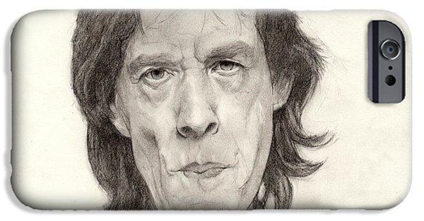 Rollingstone iPhone Cases - Mick Jagger 2 iPhone Case by Glenn Daniels