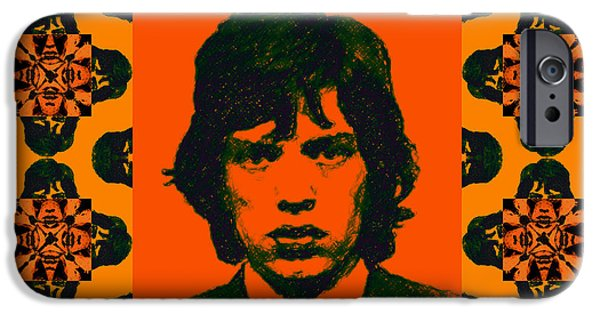 Alcatraz iPhone Cases - Mick Jagger Abstract Window iPhone Case by Wingsdomain Art and Photography