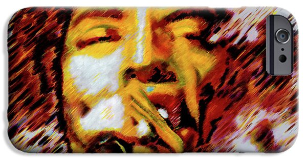 Mick Jagger Paintings iPhone Cases - Mick Jagger iPhone Case by Barry Novis