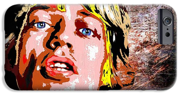 Mick Jagger Paintings iPhone Cases - Mick Jagger iPhone Case by Daniel Janda