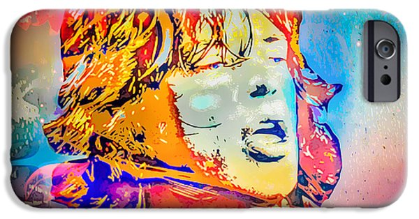 Choker iPhone Cases - Mick Jagger iPhone Case by Eleni Mac Synodinos