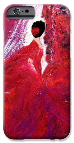 Mick Jagger Paintings iPhone Cases - Mick Jagger Farewell iPhone Case by Yelena Wilson