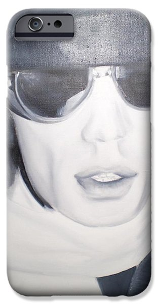 Mick Jagger Paintings iPhone Cases - Mick Jagger iPhone Case by John Sabey Jr