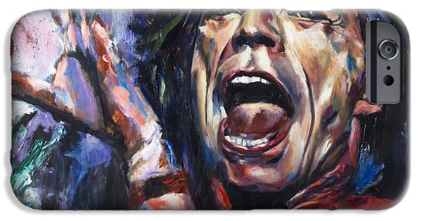 Celebrities Digital iPhone Cases - Mick Jagger iPhone Case by Mark Courage