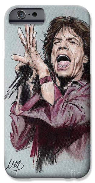 Rolling Stones iPhone Cases - Mick Jagger iPhone Case by Melanie D