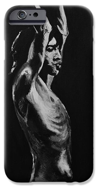Mick Jagger Paintings iPhone Cases - Mick Jagger iPhone Case by Melissa O