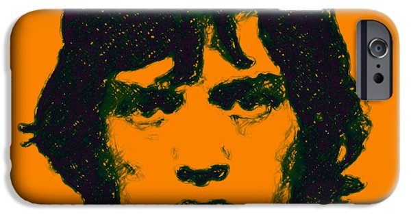 Alcatraz iPhone Cases - Mick Jagger square iPhone Case by Wingsdomain Art and Photography