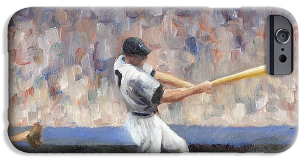 Pinstripes iPhone Cases - Mickey iPhone Case by Joe Maracic